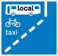 UK Traffic Sign Diagram Number 958 -  Bus, Cycle and Taxi Lane