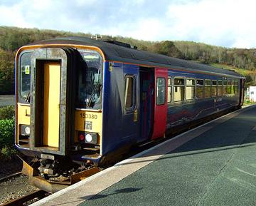 FGW 153380 Looe Railway Station