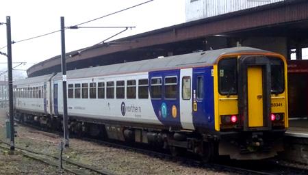 Class 155 No. 155341 York Railway Station