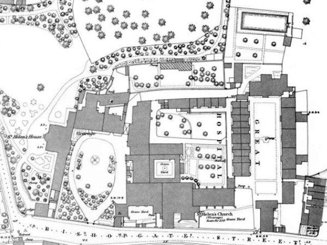 1884 map Great Hospital