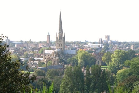 Norwich Cathedral from St James Hill