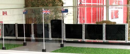 Bexwell memorial scale model